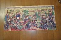 明治初 浮世絵 花魁 東京『深川品川楼座敷図・3枚組』