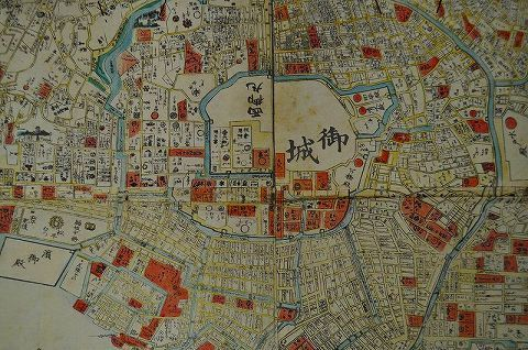 江戸 明治元年 地図 築地ホテル『江戸 城下 絵図』全図
