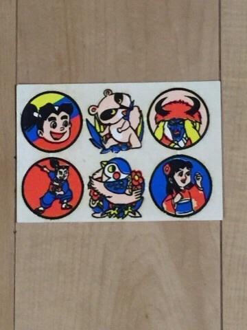 昭和 40代 漫画 ヒーロー『赤胴鈴之助 未使用 ワッペン 6点』おもちゃ