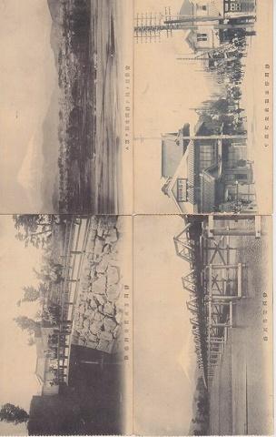 日本絵葉書『静岡の光景』明治 4枚一括