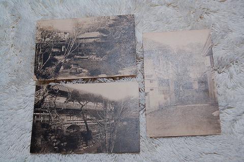 日本絵葉書『伊豆修善寺温泉菊屋旅館』戦前 3枚一括