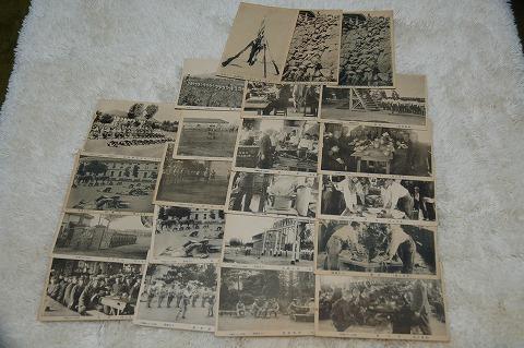アンティークポストカード『軍隊生活』大正 22枚一括