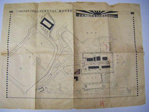 地図 絵図 幻『大正 16年 東京 博覧会 会場 計画 図』