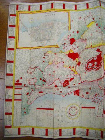 明治 地図 絵図 彩色 細密 銅版『改正 東京 全図』