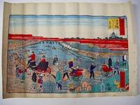 明治 浮世絵 絵図 一景「東京 名所 日本橋」