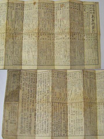 江戸 地図 絵図 新撰組 龍馬「都 名所 自在歩行」京都 彩色 木版