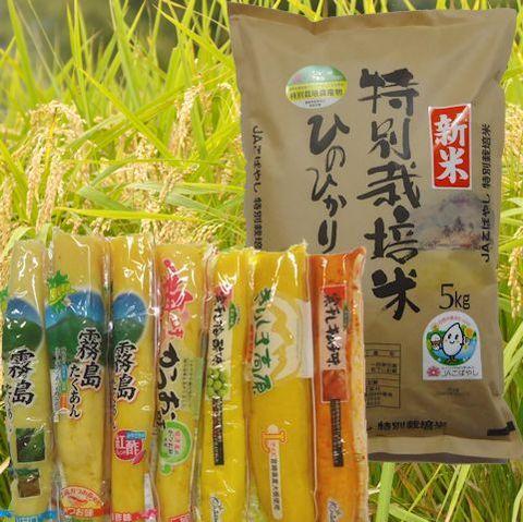 特別栽培米ひのひかり(5kg)+おつけもの7本セット