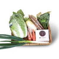 季節の野菜と笑顔米(1kg)詰合せ
