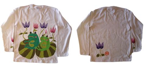 蓮カエル七部袖Tシャツ