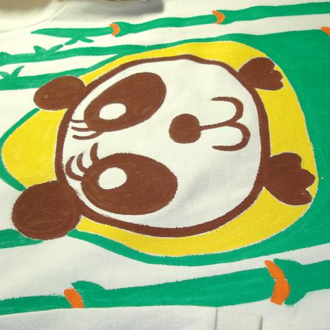 竹パンダロングロンパース