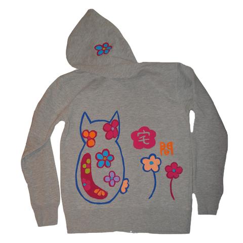 花猫パーカー
