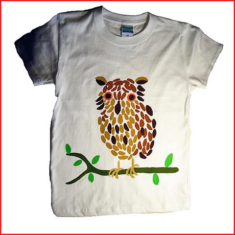 干支 名入れTシャツ出産祝い 子供服 名入れ ふくろうTシャツ