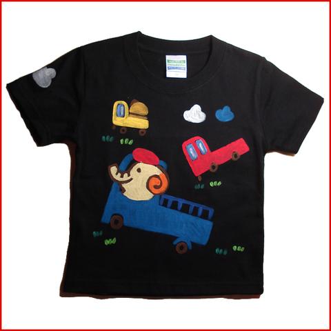 名入れTシャツ出産祝い 子供服 名入れ 車象Tシャツ