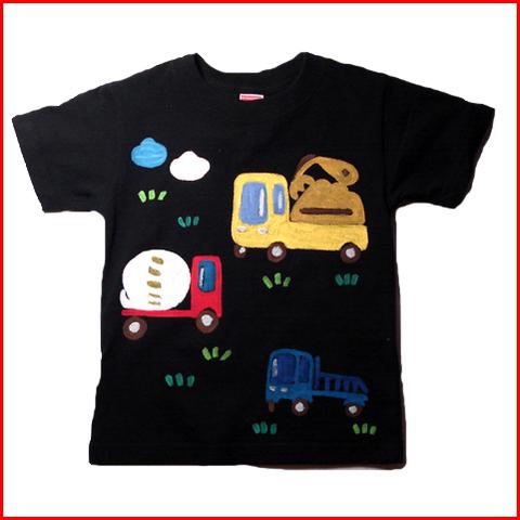 名入れTシャツ出産祝い 子供服 名入れ コンボ&ミキサー車Tシャツ