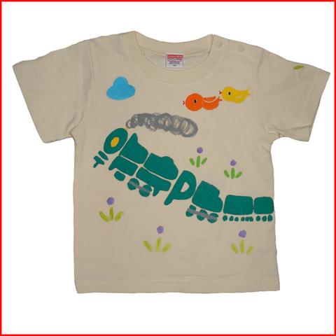 名入れTシャツ出産祝い 子供服 名入れ 機関車Tシャツ