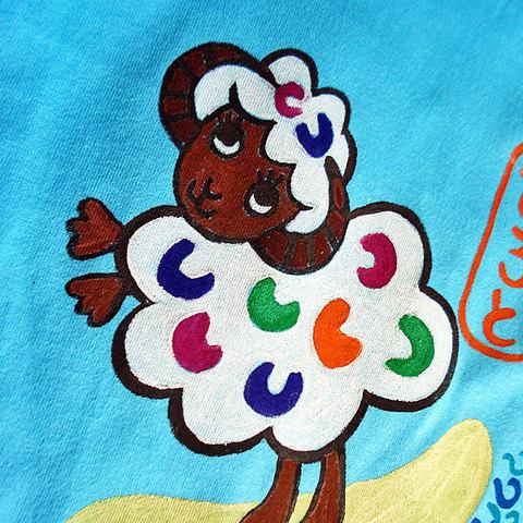 ペアルックお見合い兄弟 姉妹 お揃いサーフィン羊Tシャツペア割引!ペアルックで買うとお得!