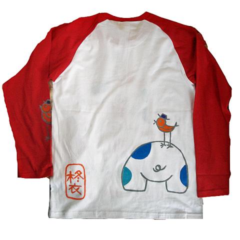 かばロングラグラン七部袖ラグランTシャツ