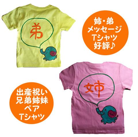 姉弟 ペアtシャツ 吹き出しに姉・弟と入る 姉弟ペアルックTシャツ