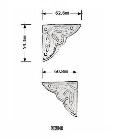 コーナー金物 T028