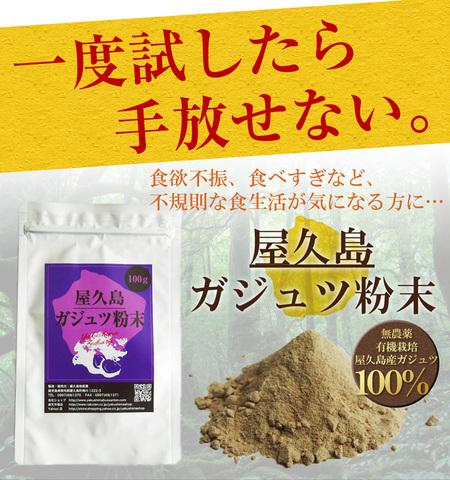 屋久島紫ウコン(ガジュツ)粉末(100g)宅配便出荷