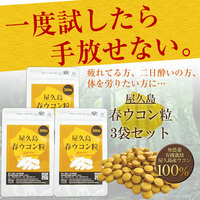 【ラッキーSALE】屋久島春ウコン粒(300粒)3袋セット