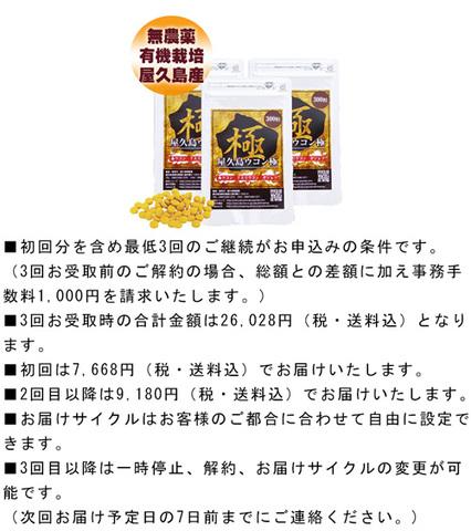 【定期購入】屋久島ウコン極(300粒)3袋セット