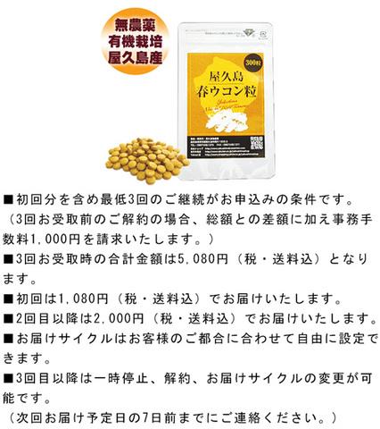 【定期購入】屋久島春ウコン粒(300粒)ポスト投函