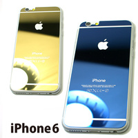 iPhone6用ハーフミラー調背面保護強化ガラスパネル