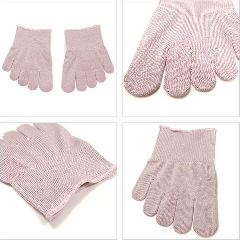 絹5本指ハーフソックス(つま先靴下)