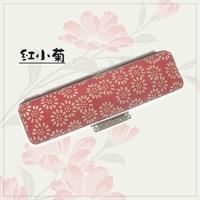 上印伝印鑑ケース・紅小菊