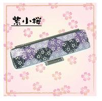 ろうけつ印鑑ケース・紫小桜