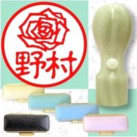 牛角イラスト入印鑑・バラ1