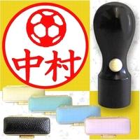 黒水牛イラスト入印鑑・サッカー