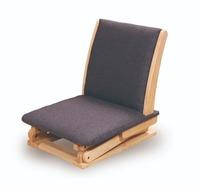 高さが変わる座椅子 グレー