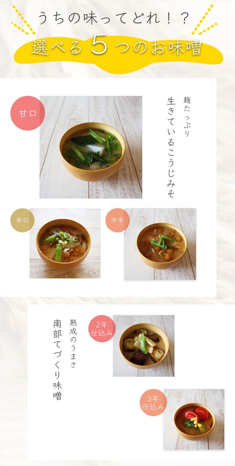 麹味噌_選べる5種類