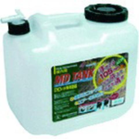 土井 ポリ水缶 コック付20LW 白 MD-20LCタンク