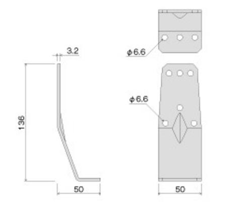 タナカ AA1583 オメガコーナー 15KNⅡ 床合板仕様