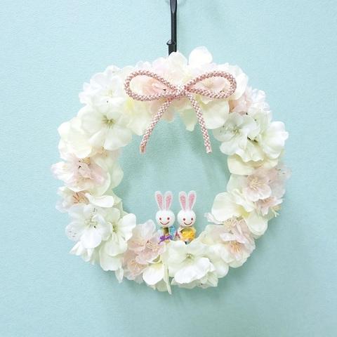 桜リース (雛祭り)
