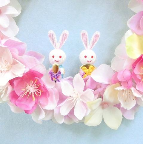 * 桃の花と桜のリース(ひな祭り) *