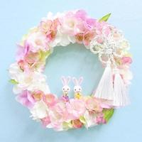 * 八重桜のリース(ひな祭り)菊結び *