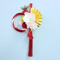 * お正月飾り しめ縄 紅白水引 胡蝶蘭(ホワイト) *