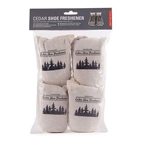 【KIKKERLAND】Cedar Shoe Freshner set of 4