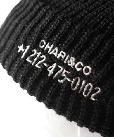 【CHARI&CO】PHONE NUMBER WATCH CAP