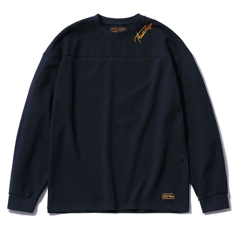 【CLUCT】L/S EMBROIDERY CREW SWEAT