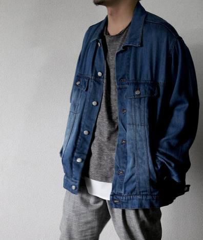 【LiSS】 TENCEL DENIM BIG size blouson