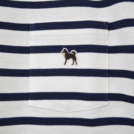 【SONTAKU】黒柴ポケットTシャツボーダー