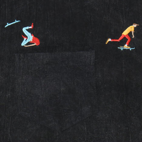 【O.K.】FALL DOWN SKATER SHIRTS