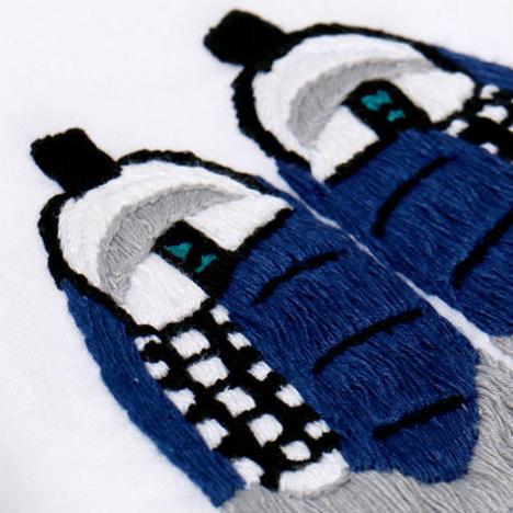 【O.K.】FOOT SCAPE TEE(手刺繍)