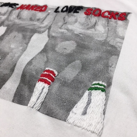 【O.K.】PHOTO SOCKS TEE(フォト+手刺繍)