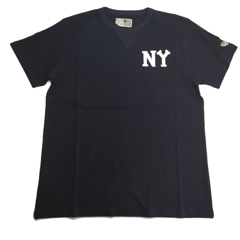【EBBETS FIELD FLANNELS】NY BLK YANKEES TEE